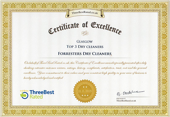Forresters Certificate of Excellence